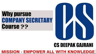 Best Career Option after 12th Commerce | 2020 l Why to pursue Company Secretary (CS) Course ?