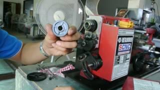 วิธีเปลี่ยนเฟือง ตั้งเฟือง เพื่อทำเกลียว กลึงเกลียว โดยเครื่องกลึงขนาดเล็ก(1)