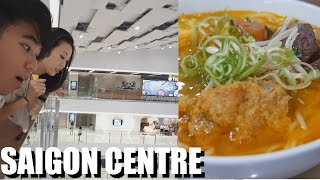 SAIGON IS SO MODERN - New Mall (Takashimaya Saigon Centre) + Bun Rieu - Vietnam Vlog #39