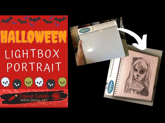 Time Lapse Halloween Lightbox Drawing!