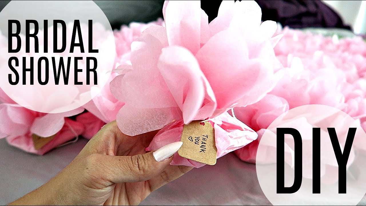 BRIDAL SHOWER DIY! FLOWER FAVOURS & PHOTOBOOTH PROPS! - YouTube