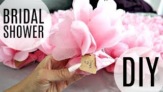 BRIDAL SHOWER DIY! FLOWER FAVOURS & PHOTOBOOTH PROPS!