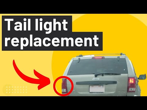 Jeep Cherokee Replace Burnt Out Tail Light Brake Blinker Reverse