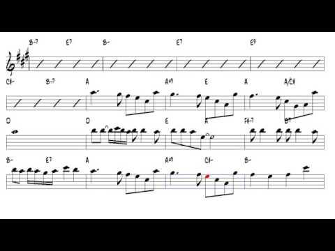 La vie en rose Edith Piaf 1945 Alto Sax - YouTube