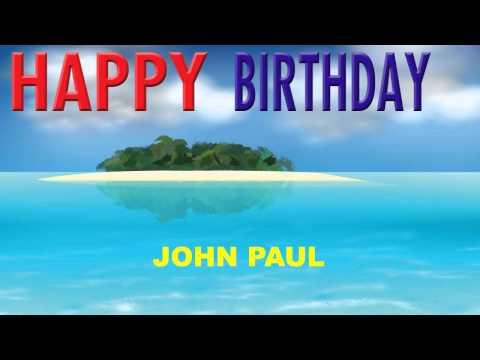 JohnPaul  Card Tarjeta - Happy Birthday