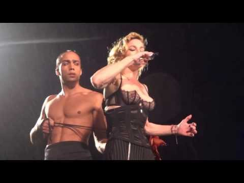 Naked Madonna shows nipples and get dress up corset on the stage ♥ MDNA Tour ~ Dublin 24.7.201s2 thumbnail
