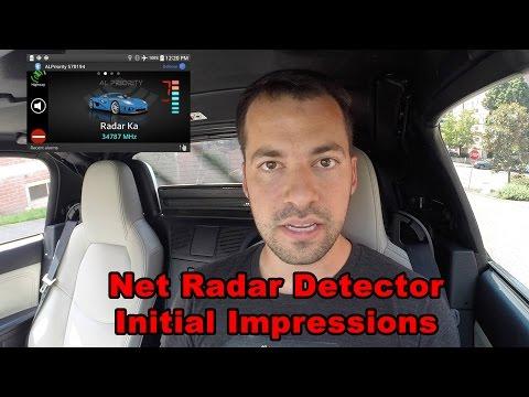 Net Radar Detector Initial Impressions