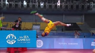 Sepak Takraw Team Mens Doubles MYA vs THA (1st Regu/Match) | 28th Sea Games Singapore 2015