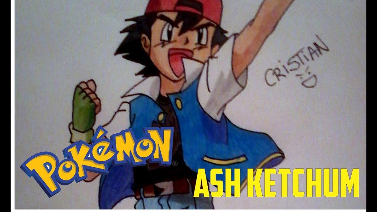 Como dibujar a Ash Ketchum (Pokémon) - How to draw Ash Ketchum - YouTube