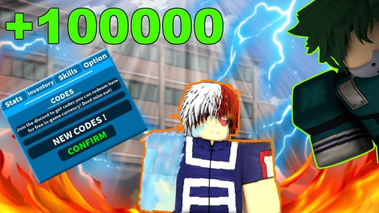 boku no hero roblox codes