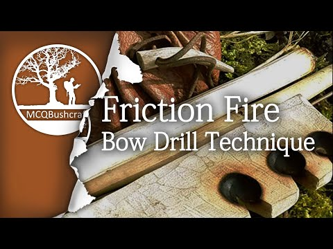 Bushcraft Essential Bow Drill Friction Fire Techniques