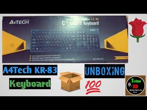 A4Tech KR-83 USB Keyboard Unboxing