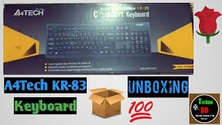 A4Tech KR-83 USB Keyboard Unboxing
