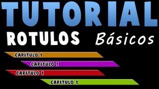 Tutorial - Rótulo Básico (Lower Third) con Photoshop CS6 y Premiere CS6 Español