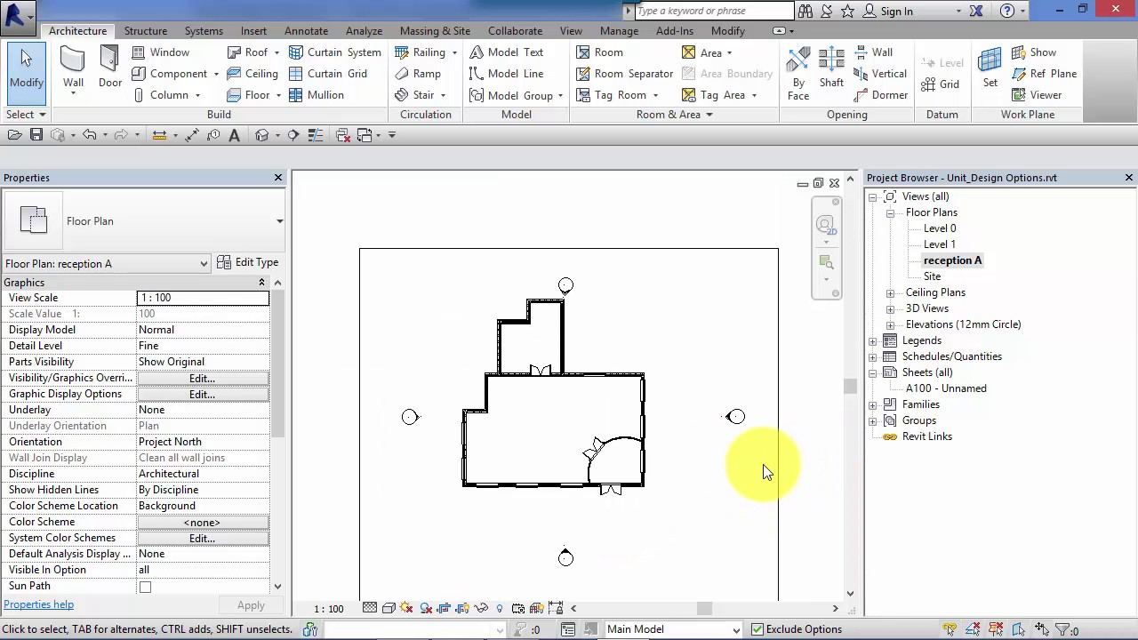 how to delete design options in revit