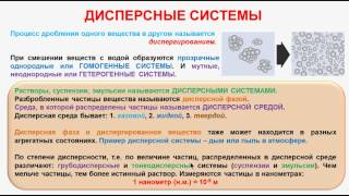 № 144. Неорганическая химия. Тема 16. Дисперсные системы. Часть 1. Дисперсные системы