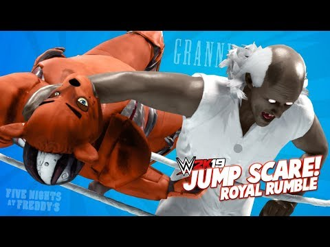 JUMP SCARE Royal Rumble in WWE 2k19! Granny, Bendy and Freddy Fazbear! K-City GAMING |