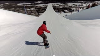 First-Ever Double Super Pipe Snowboard Session