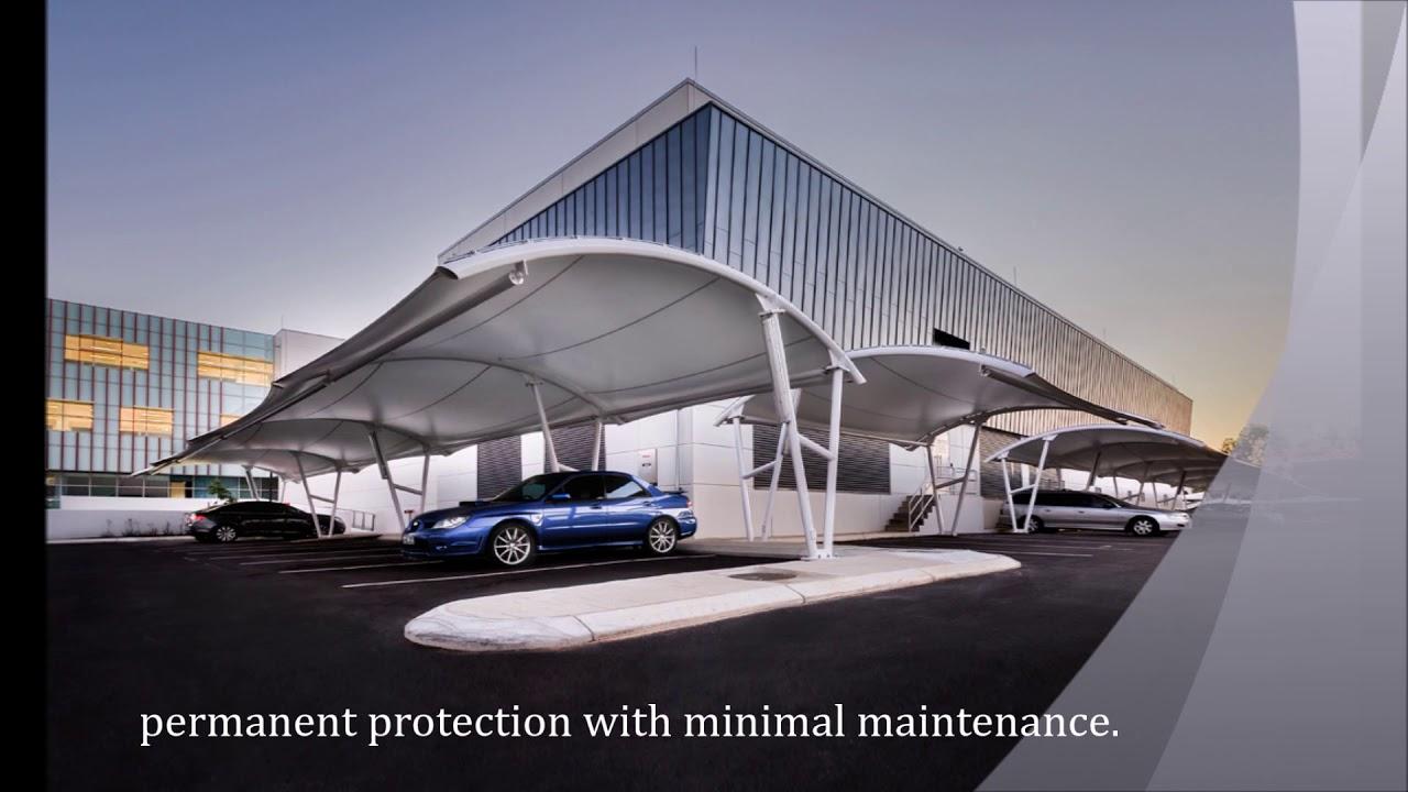 modern car parking shade structures  designer  u0026 manufacturer  shadeco tensile delhi  india