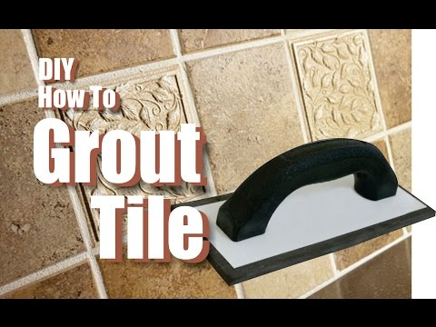 How to Grout Tile easy DIY project