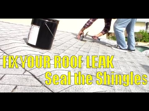 How to Fix Roof Leak by Sealing Area of Asphalt Shingles