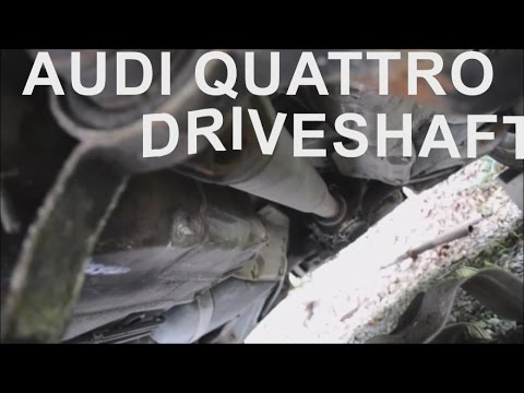 Audi A6 A4 Driveshaft Removal || How to Remove Quattro Drive Shaft