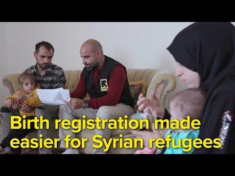 Birth registration made easier for Syrian refugees