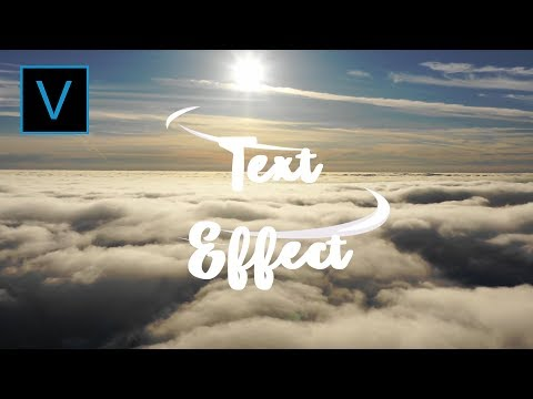 Text Effect - Tutorial | Sony Vegas Pro 11-16