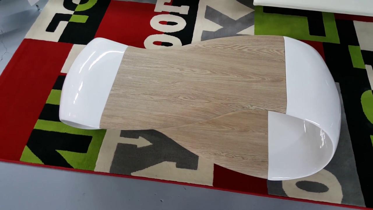Table De Salon Moderne Blanche Et Bois Jarka