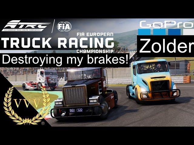 FIA European Truck Racing Gameplay at Zolder - GoPro