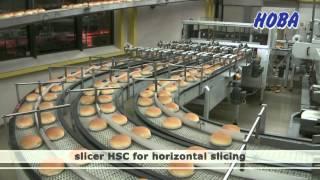 Hoba - Bunslicer Hsc, Pillow Pack Sealing - Full Automatic Hamburger Bun Line