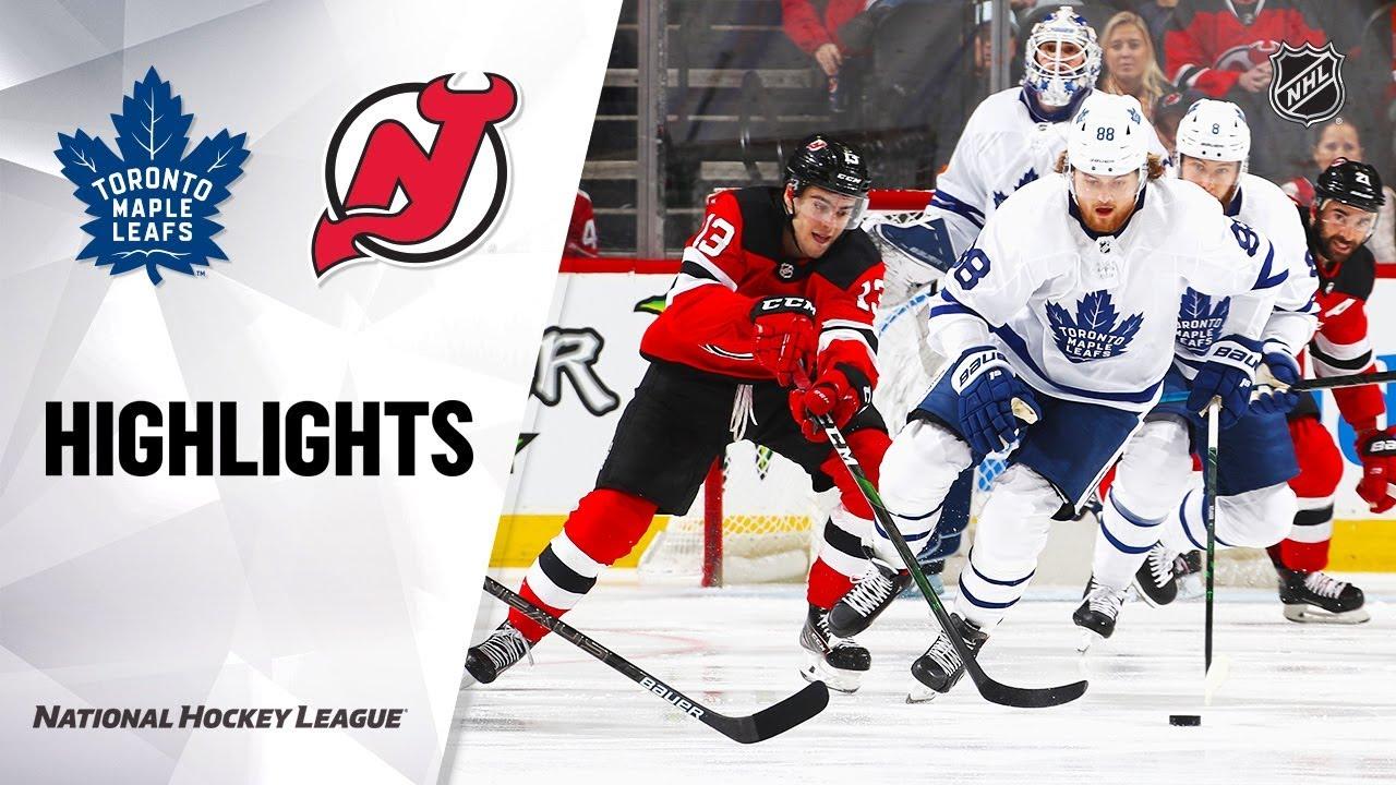 NHL Highlights | Maple Leafs @ Devils 12/27/19