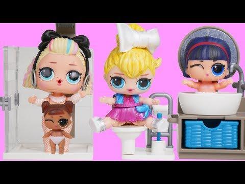 Custom LOL Surprise Dolls Morning Routine in Unicorn Dream House Family