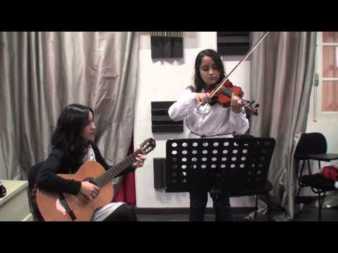 Júlia Romualdo violino prof  Sofia Grilo French Folk Song Neil Mackay acomp  prof  Diana Guardado Dez2012 Travel Video
