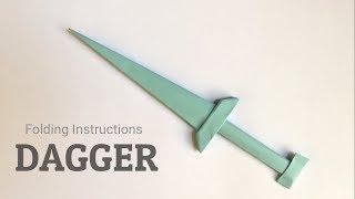 Paper Dagger Origami tutorials
