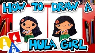 How To Draw A Hula Girl