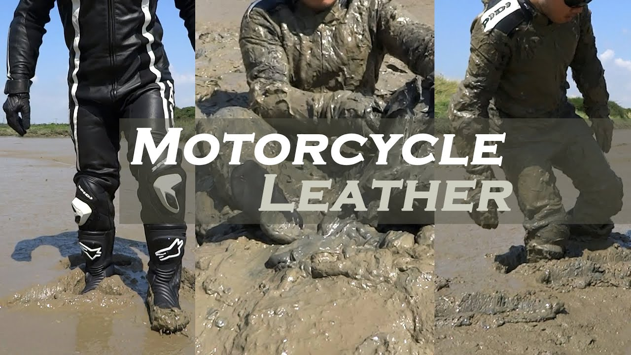 mud leather motorcycle fun