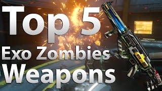 """TOP 5 Best Guns/Weapons in """"Advanced Warfare: Exo Zombies"""" (COD AW Exo Zombies OutBreak)"""