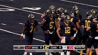 High School Football CHS Vs WHS September 13 2019