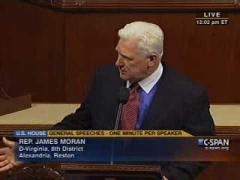 Congressman Jim Moran Addresses Offshore Oil Drilling (June 29th, 2010)