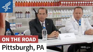 Secretary Alex M. Azar Visits a Pittsburgh Pharmacy
