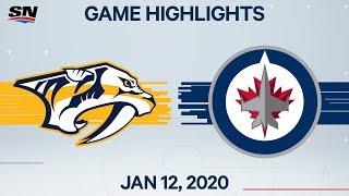 NHL Highlights   Predators vs. Jets – Jan. 12, 2020