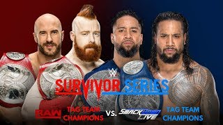 WWE Survivor Series 2017: Cesaro & Sheamus vs. The Usos