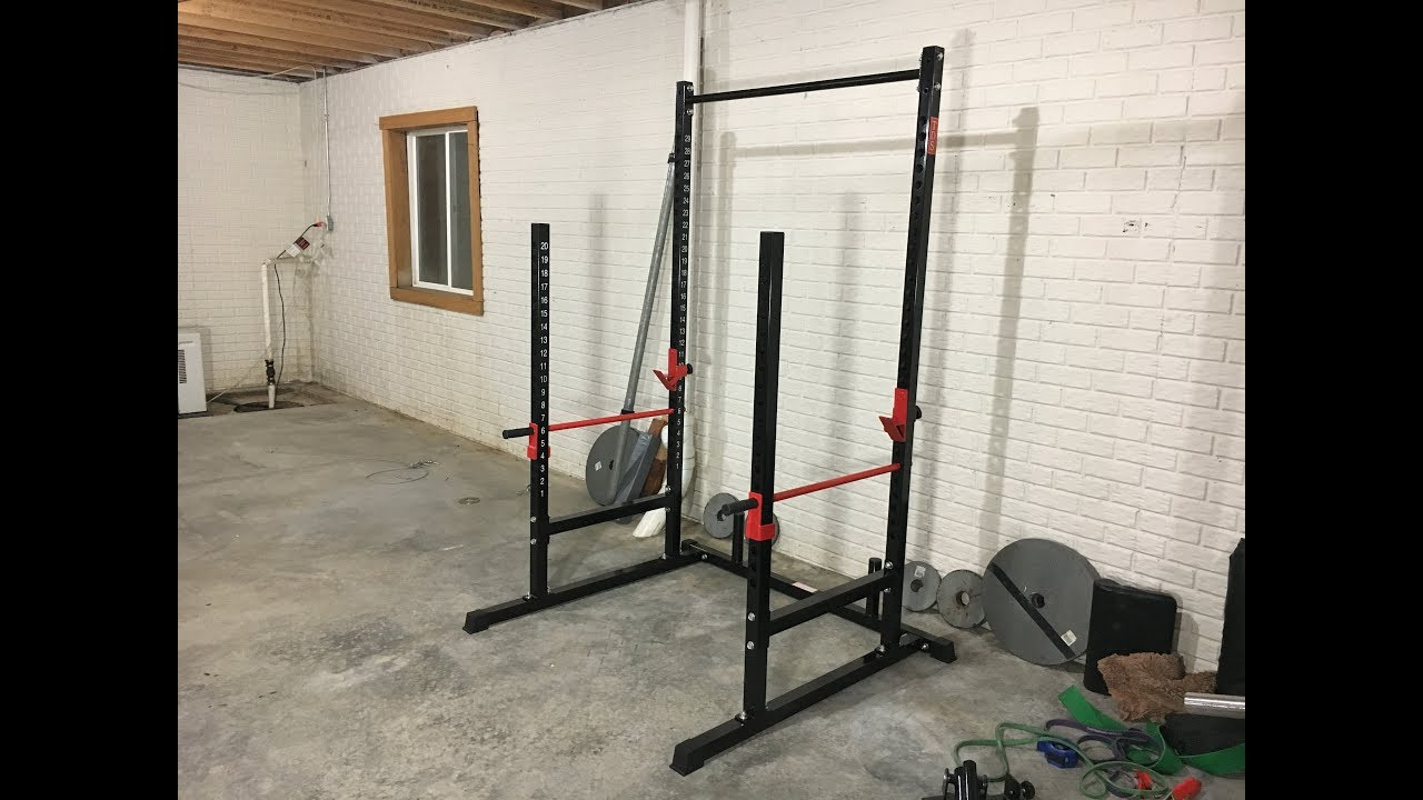 tds power squat open rack station with solid steel safety bars amazon review