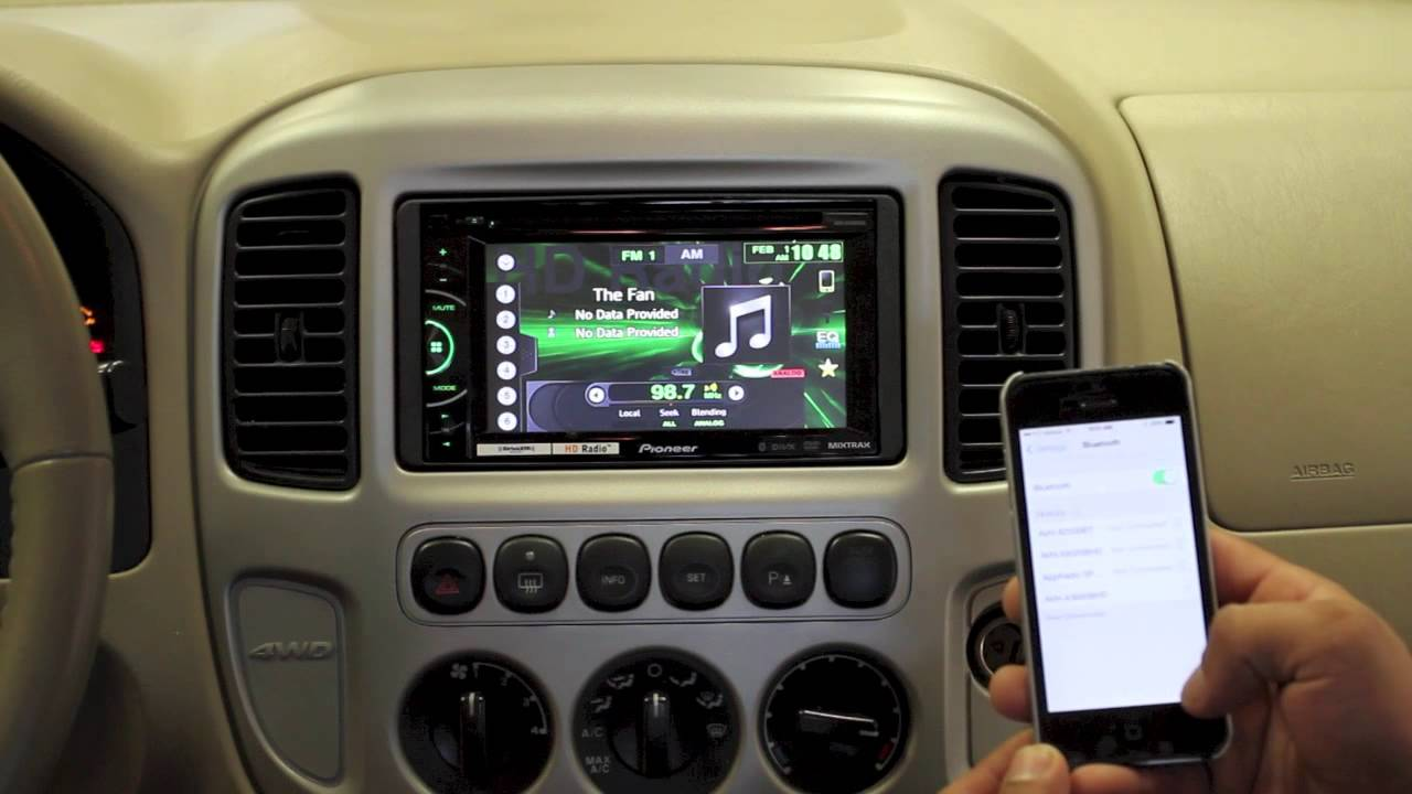 How To Pair Your Iphone Pioneer Avh Dvd Video Car Stereo 3100 Youtube