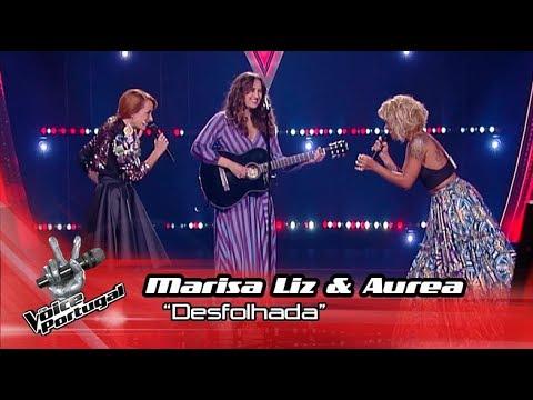 Marisa Liz e Aurea cantam a Desfolhada no palco do The Voice Portugal