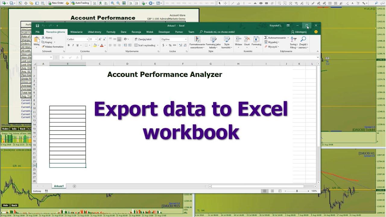 Export Metatrader Data To Excel Workbook Soon Youtube