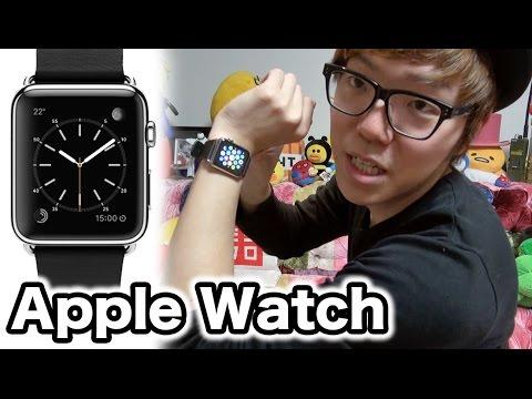 アップルウォッチGETApple Watch ブラックレザー ステンレススチールバックル