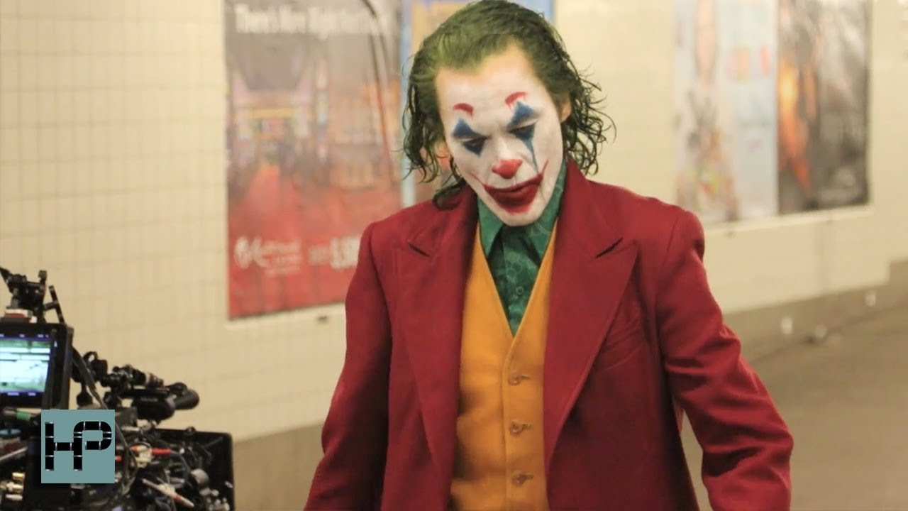 Joker Movie Filming New Scene In Brooklyn Subway Station Joaquin Phoenix In Full Make Up