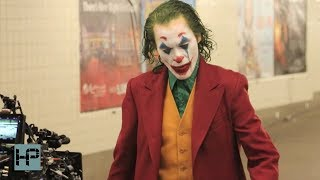 JOKER Movie Filming New Scene in Brooklyn Subway Station - Joaquin Phoenix in Full Make Up